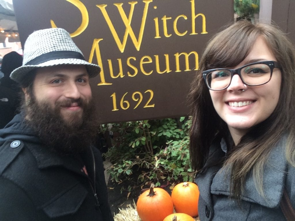Tim & I at the Witch Museum