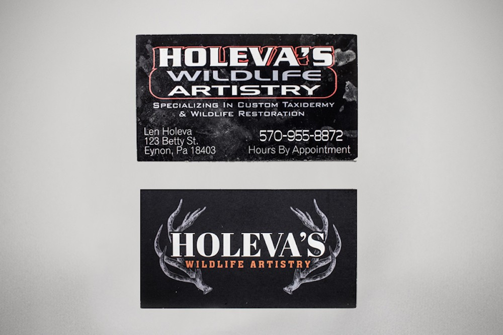 Holeva\'s Business Card Redesign - Shanty Town Design