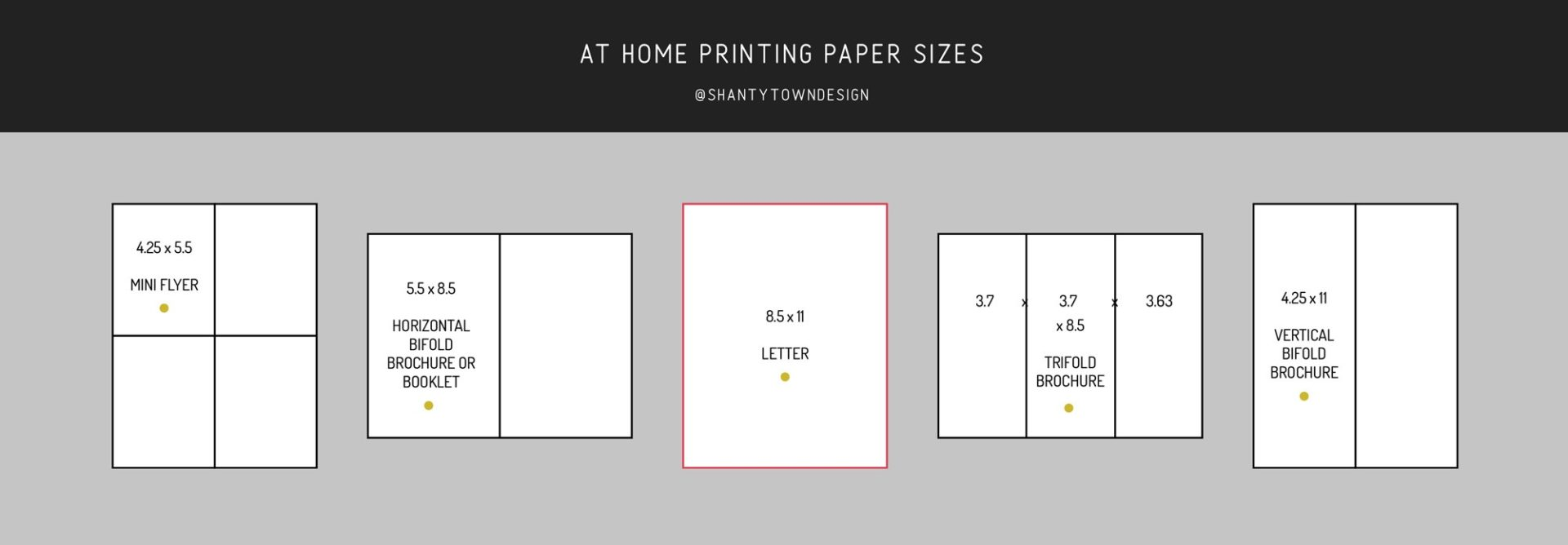 at home paper printing size guide