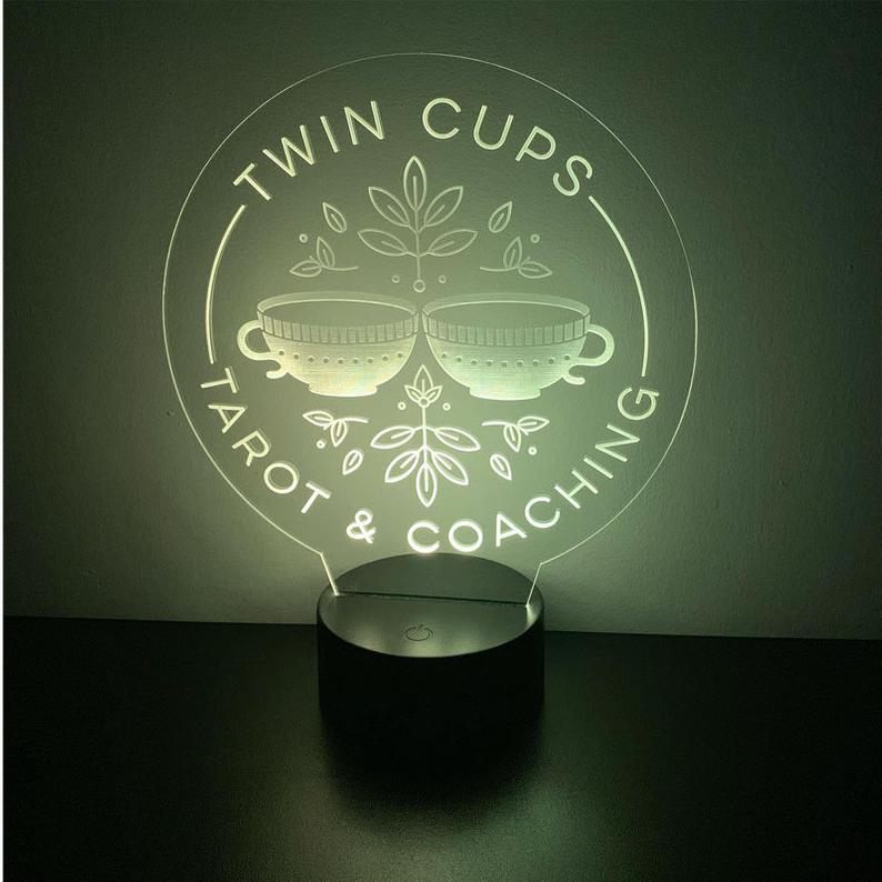 twin cups logo custom lighting