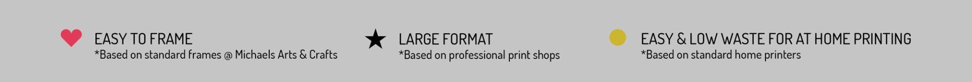paper printing size guide key graphic