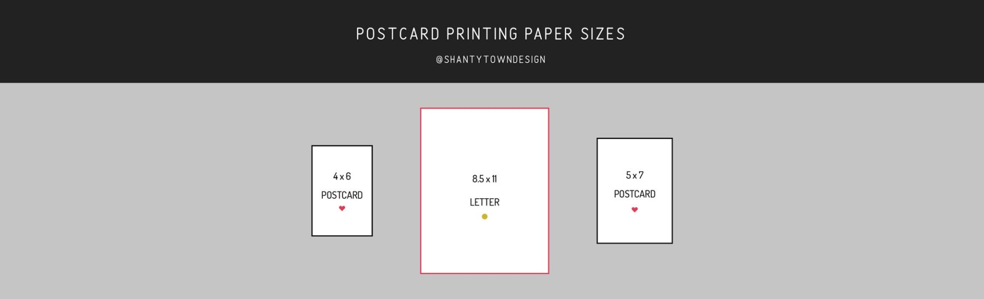 US postcard paper printing size guide